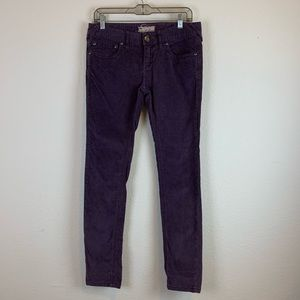 Free people | Skinny Purple Corduroy Jeans